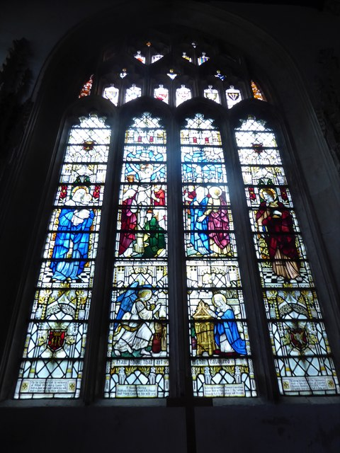 St Mary, Yatton: stained glass window (c)