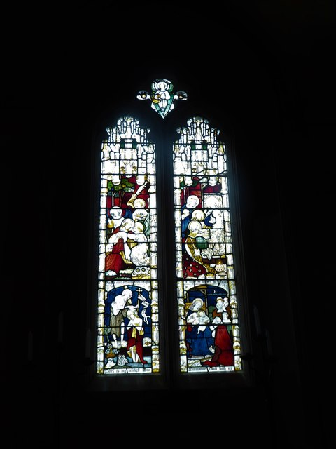 St Mary, Yatton: stained glass window (e)