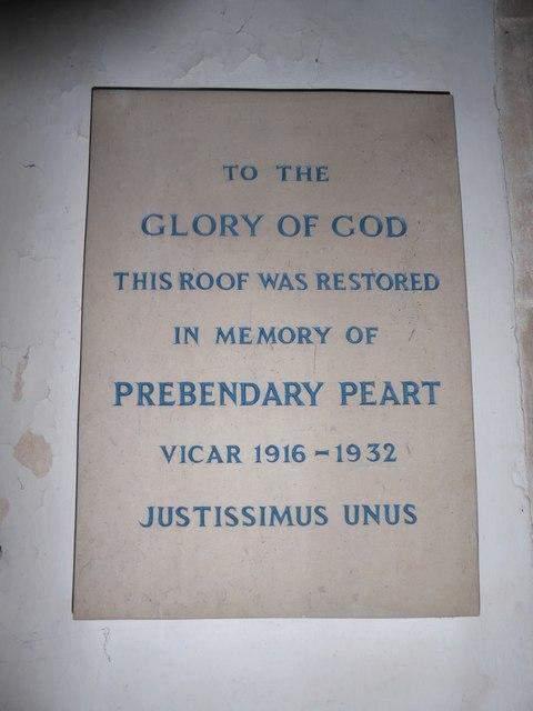 St Mary, Yatton: memorial (b)