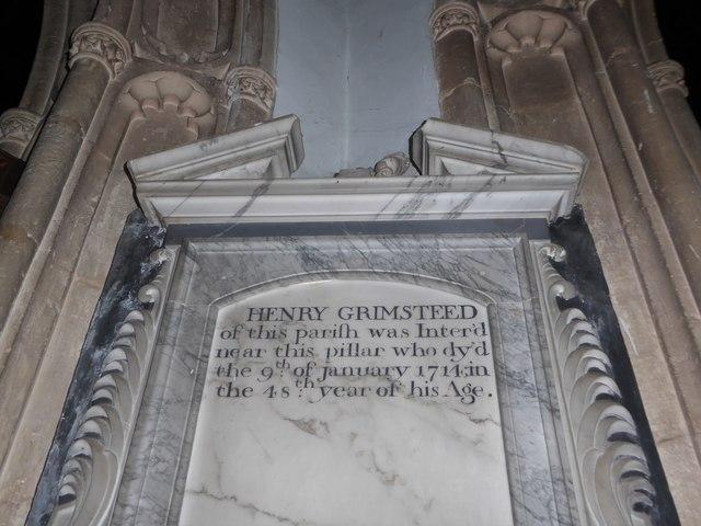 St Mary, Yatton: memorial (c)