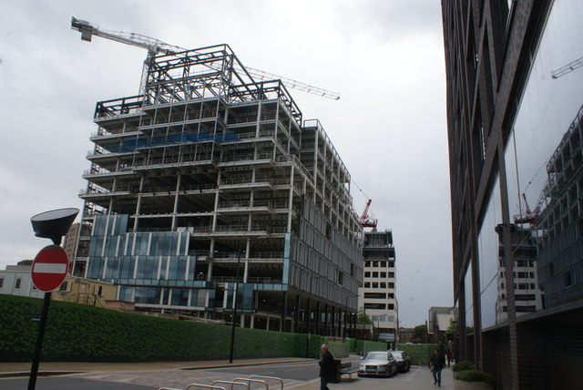 View of new apartments being constructed next to Lewis Cubitt Park from Handyside Street #2