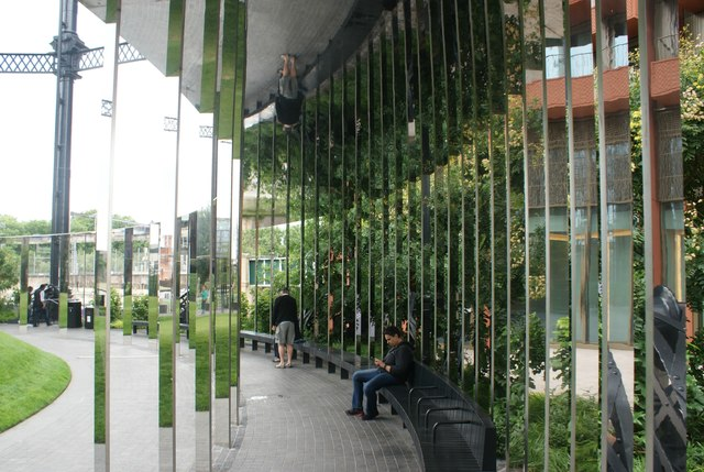 View of mirrors in Gasholder Park