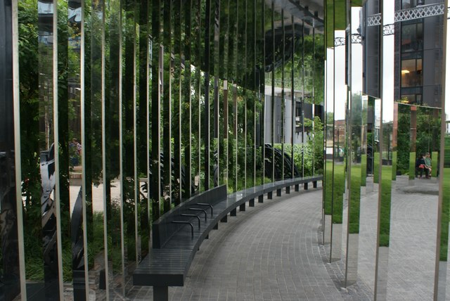 View of mirrors in Gasholder Park #2