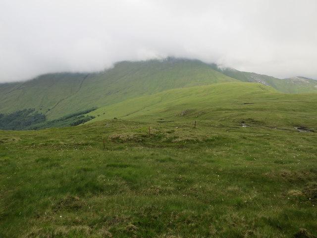 Broad ridge towards Fraochaidh