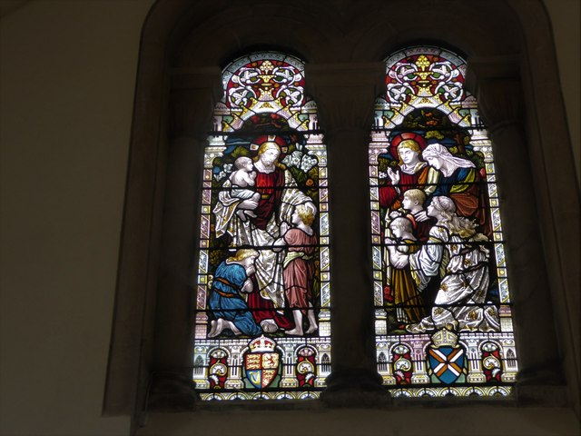 Holy Trinity, Cleeve: stained glass window (a)