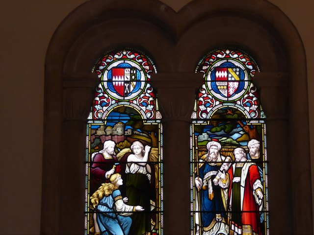 Holy Trinity, Cleeve: stained glass window (b)
