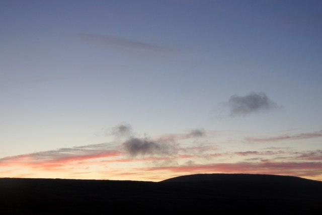 Dusk over Hermaness Hill