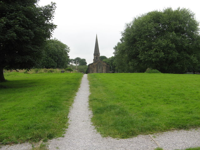 Central Path in St Paul's Churchyard, Birkenshaw