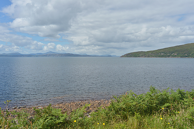 Looking across Applecross Bay