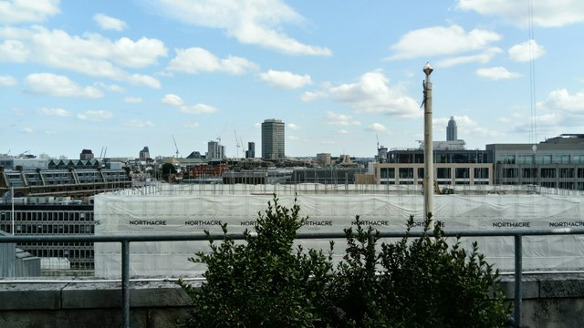 View of the Northacre building site and the Millbank Tower from the balcony of 55 Broadway