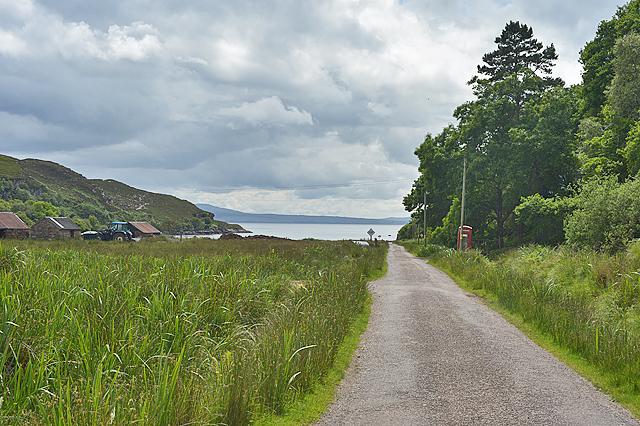 The road through Toscaig