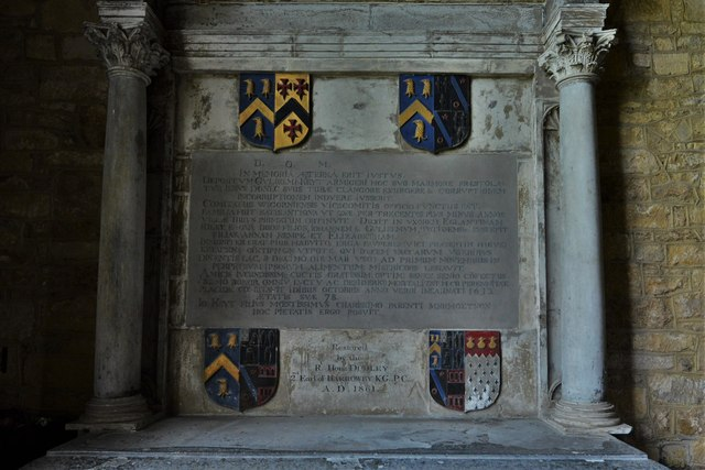 Ebrington, St. Eadburgha's Church: Sir William Keyte memorial 1