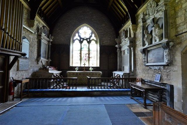 Ebrington, St. Eadburgha's Church: The chancel