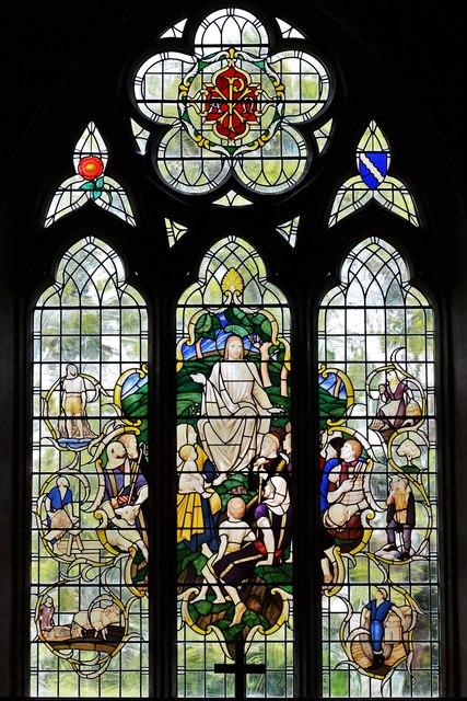 Ebrington, St. Eadburgha's Church: The lovely east window 1