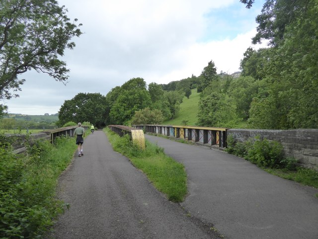 Bristol and Bath cycle path crossing River Avon near Kelston Park
