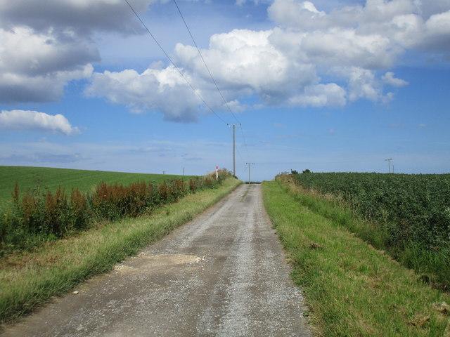 Farm access on Cony Hill