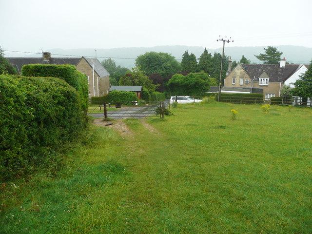 Bridleway approaching Lurks Lane, Pinchcombe
