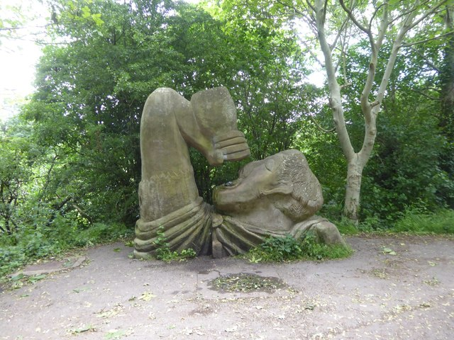Artwork by the cycle path