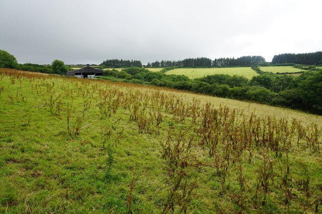 Farmland above Slattenslade