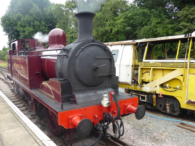 Visiting heritage steam engine at Ongar station