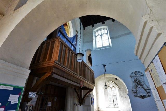 Wing, All Saints Church: The organ