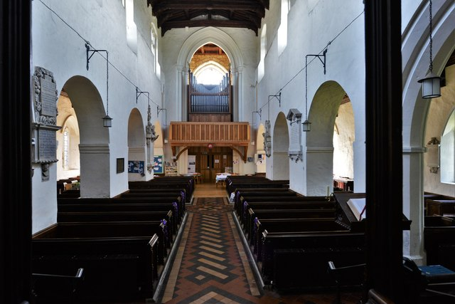 Wing, All Saints Church: The Saxon nave from the apse