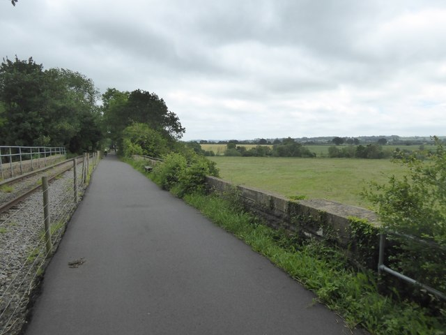 Cycle route crossing a farm bridge