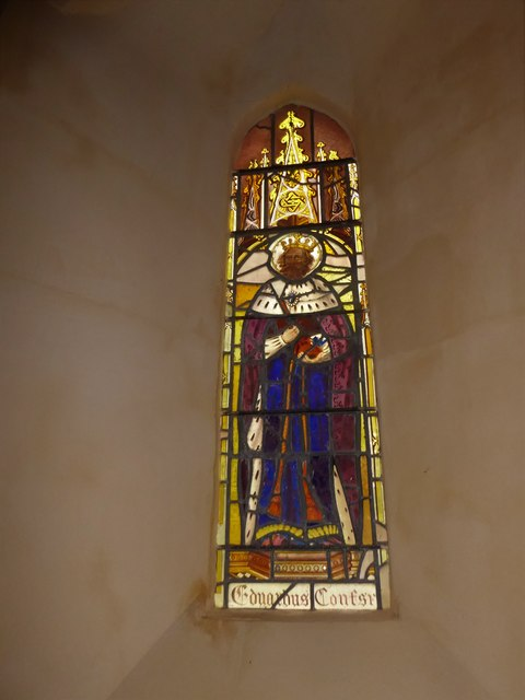 St Nicholas, Brockley: stained glass window (c)