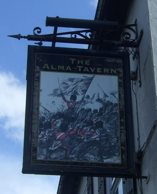 Sign for the Alma Tavern, Barbourne, Worcester