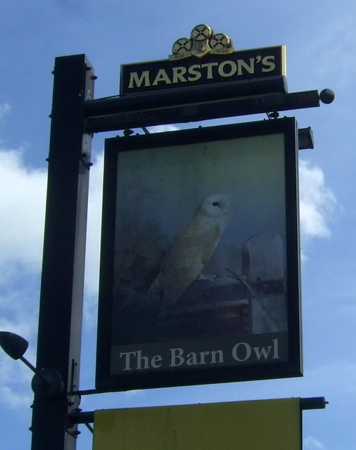 Sign for the Barn Owl public house