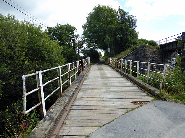 Bridge and track leading to the site of Afon Wen station