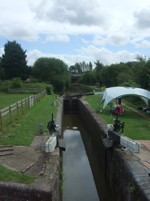 Lock on the Worcester & Birmingham Canal, Offerton