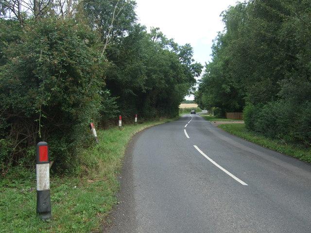 Unnamed lane near Park Farm