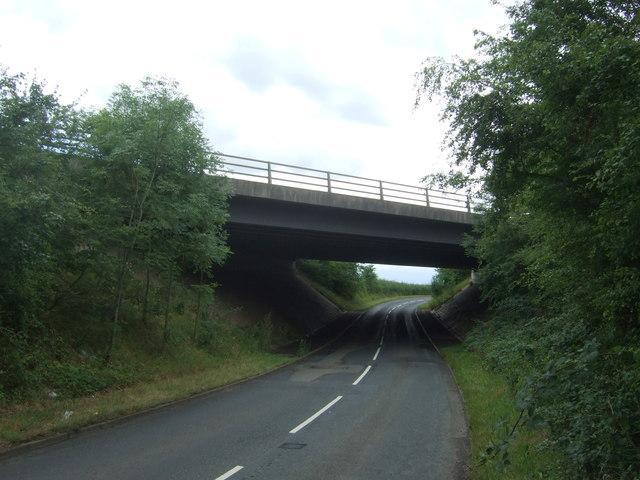 M5 Motorway bridge over unnamed road