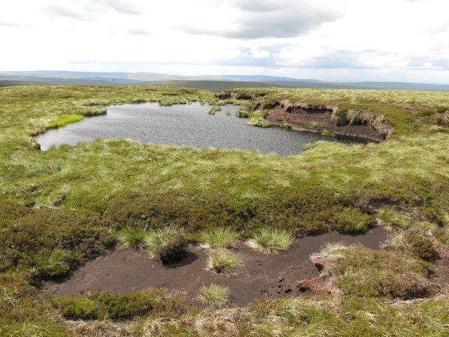 Small lough on the summit of Killhope Law