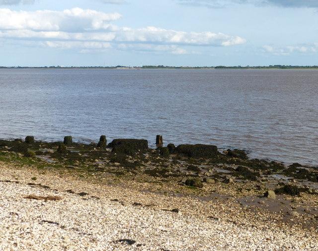 Beach at Hessle on the Humber Estuary