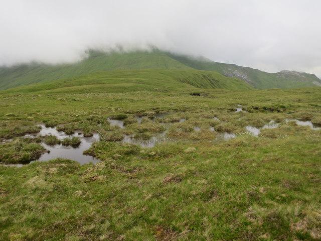 Broad, damp ridge towards Fraochaidh