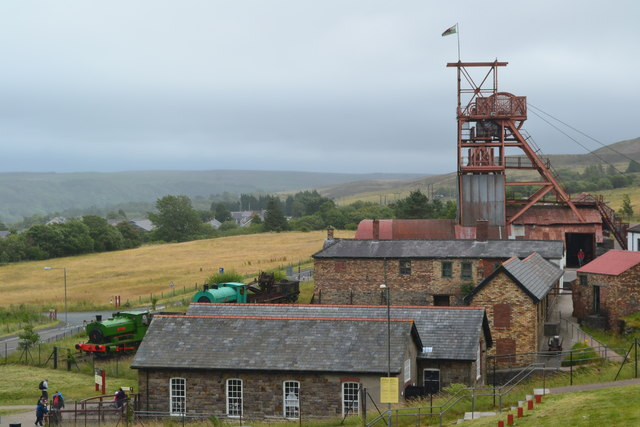 View over Big Pit mining museum