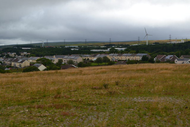 View towards Garnlydan from new viewpoint on A465