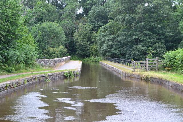 Approaching Brynich Aqueduct
