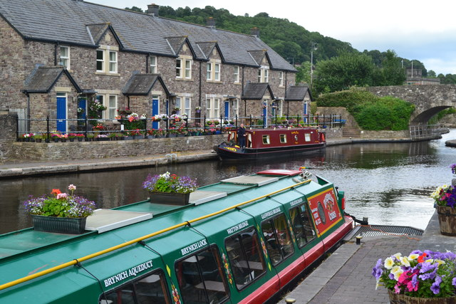 Canal basin in Brecon