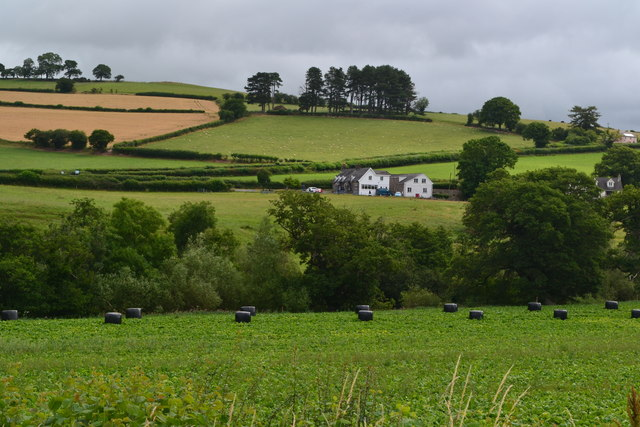 View across fields from the Monmouthshire and Brecon Canal