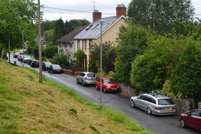 Houses below the canal embankment at Talybont-on-Usk