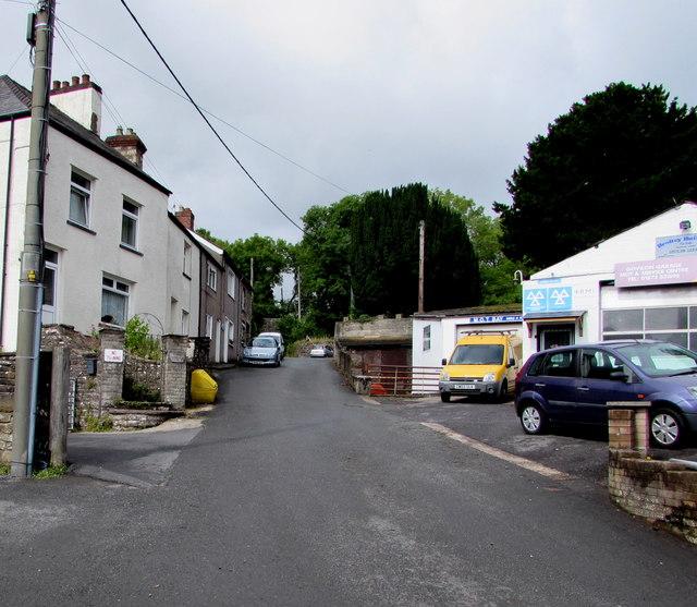 Up Church Lane, Govilon