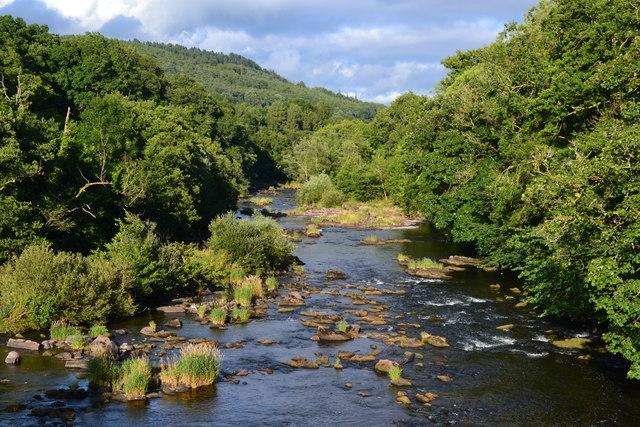 River Usk from Llangynidr Bridge