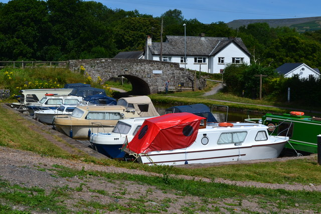 Canal basin at Llangattock
