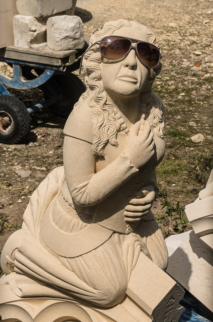 Statue with shades