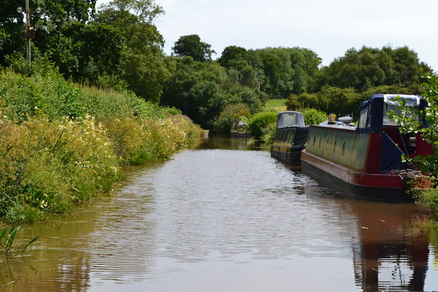 Monmouthshire and Brecon Canal passing Heron's Nest Marina