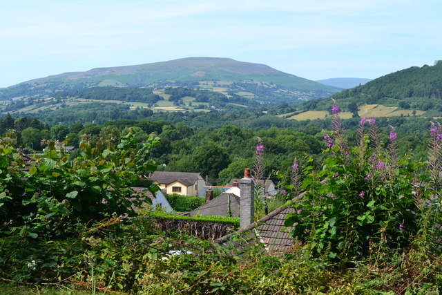 View over Gilwern from the Monmouthshire and Brecon Canal