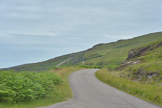 The Applecross coast road south of Sand